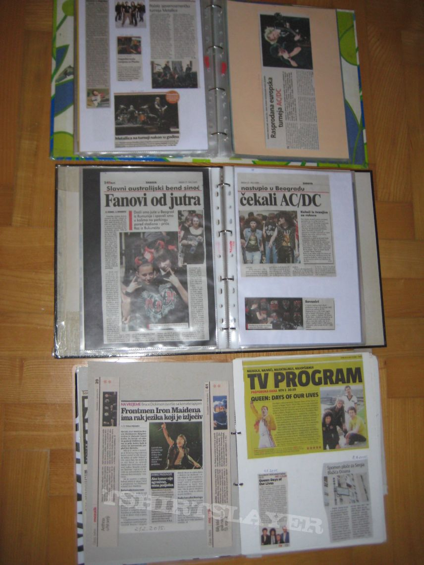 Newspaper clippings collection