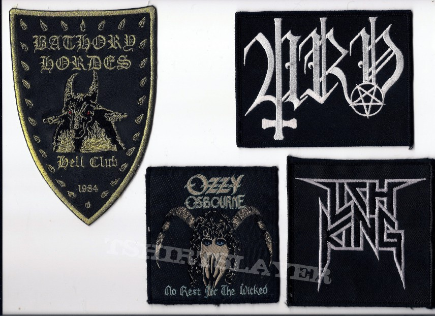 Patch - Bathory, Urn, Ozzy & Lich King Patches
