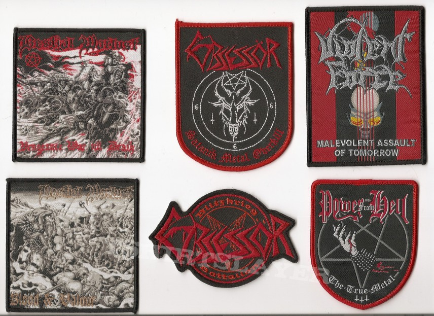 Onslaught power from hell printed patch www. Madprinting. Net.