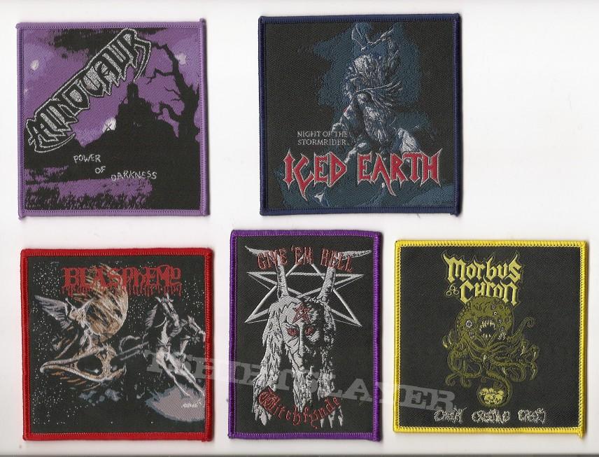 Patch - Minotaur, Iced Earth, Blasphemy, Witchfynde, Morbus Chron