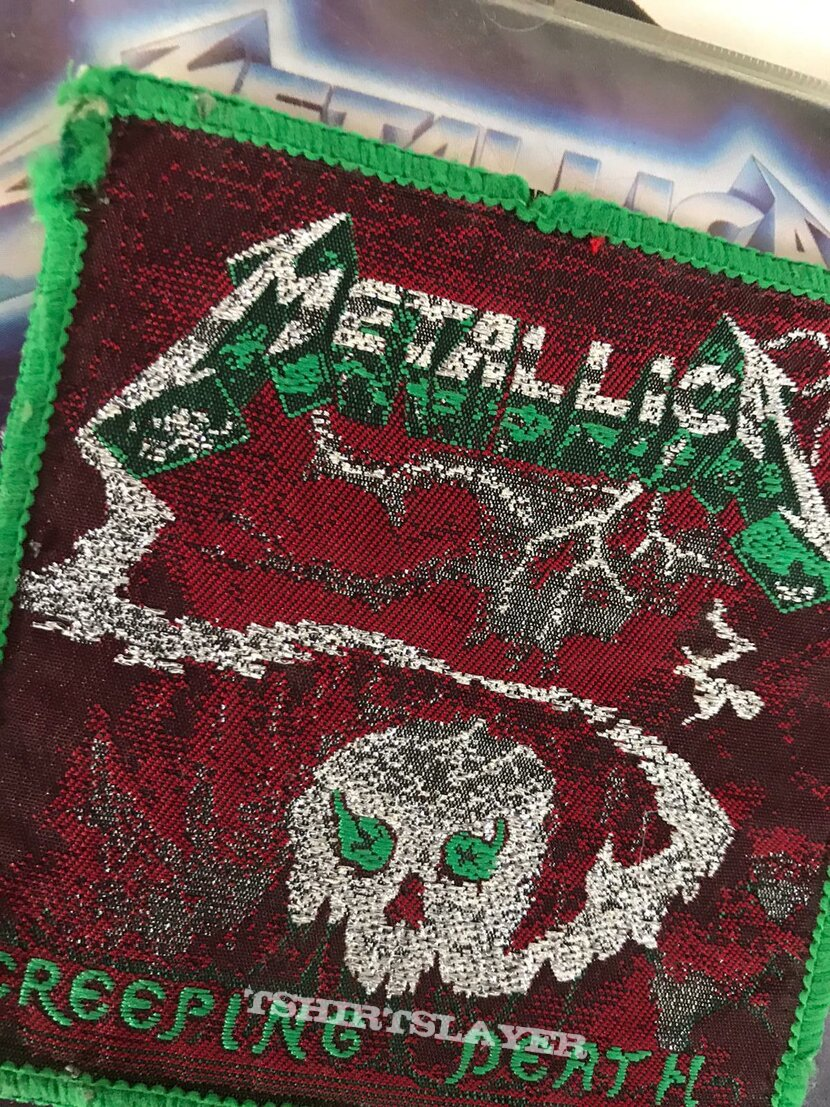 Metallica GREEN BORDER Creeping Death patch
