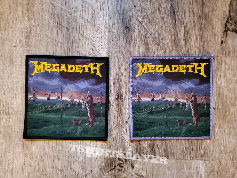 Megadeth Youthanasia Patches