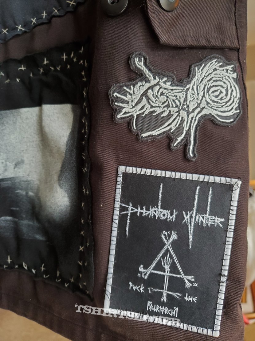 first jacket, mostly finished, black and doom mostly, a few non-metal bands for flavor.