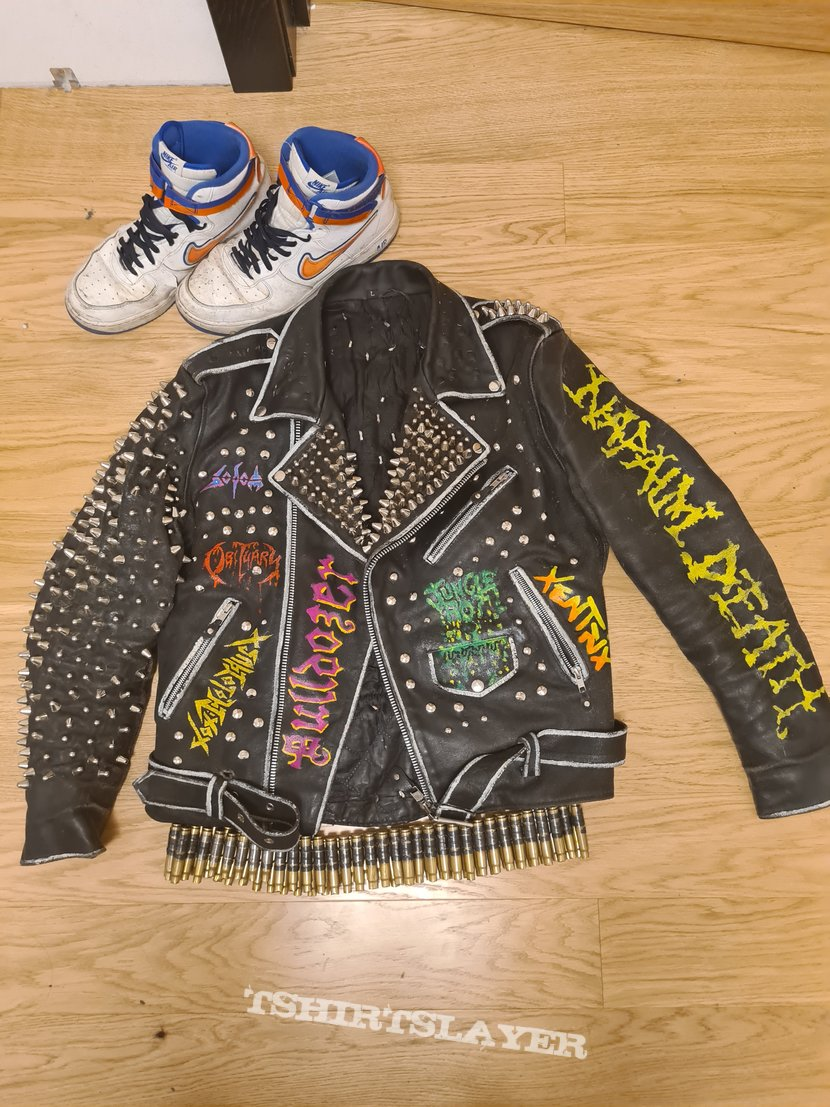 My first studded leatherjacket