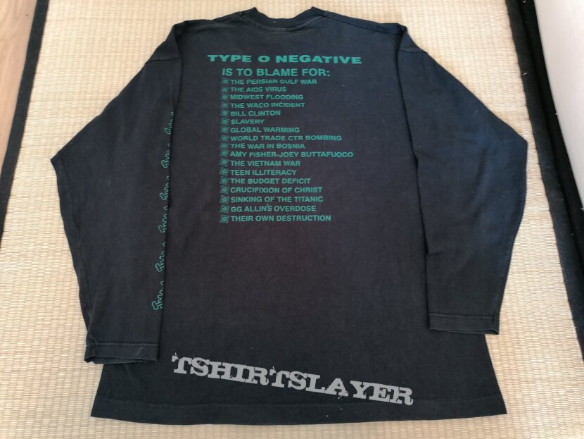 TYPE O NEGATIVE Bloody Kisses LS 1993