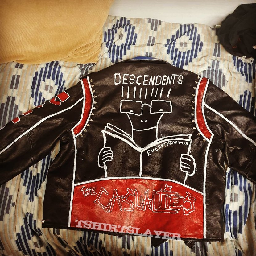 First hand painted punk jacket