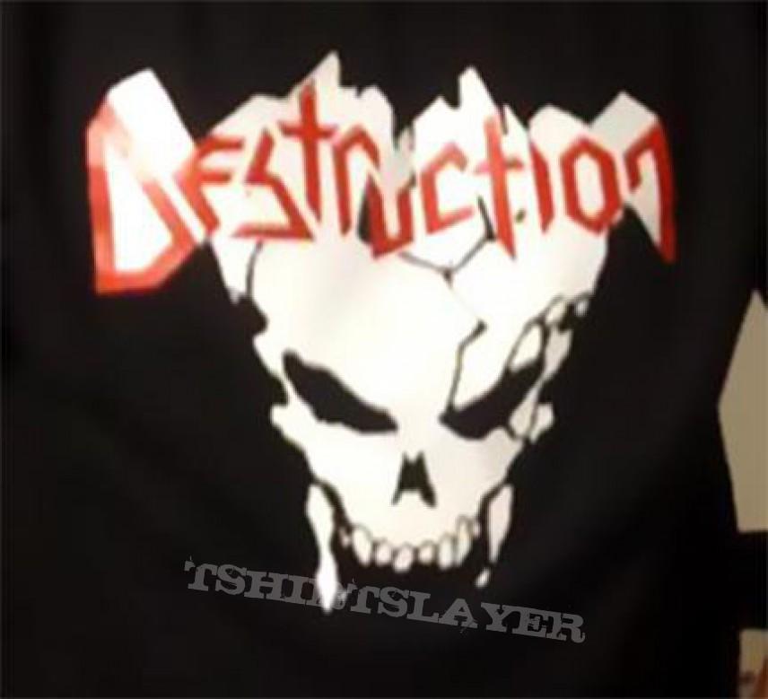 TShirt or Longsleeve - DESTRUCTION shirt - stenciled DIY