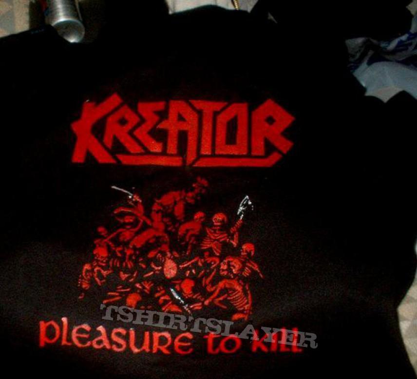 TShirt or Longsleeve - Kreator pleasure to kill Shirt - stenciled DIY