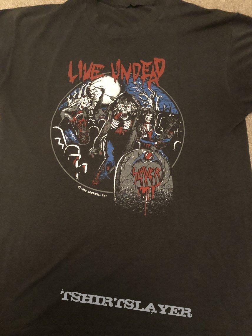 Slayer-Live Undead Circle-Black T-shirt