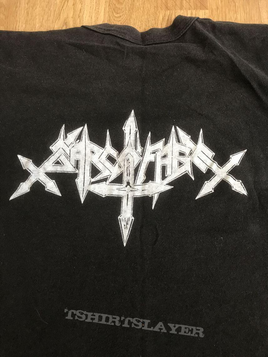 Sarcofago Original band printed shirt.