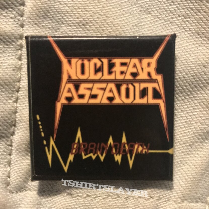 80s Nuclear Assault pin