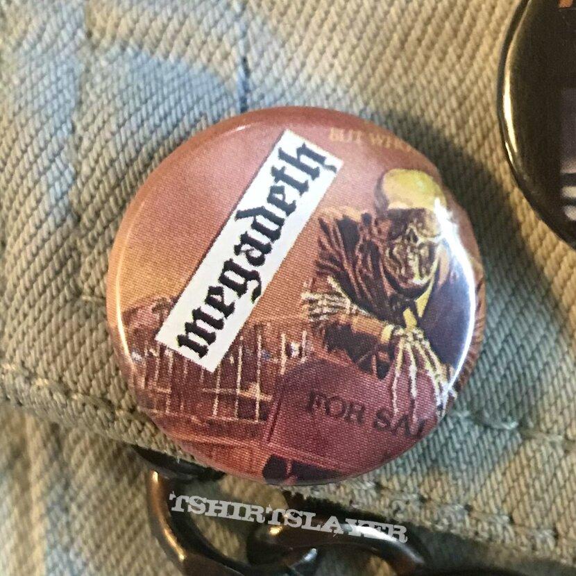 Vintage Megadeth Peace Sells button
