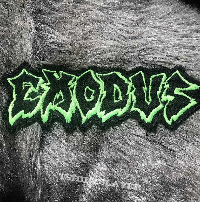 Exodus logo patch - lime green/black