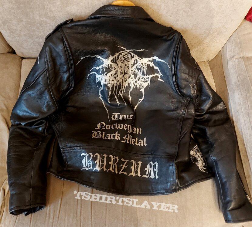 Leather jacket killer black metal '90s