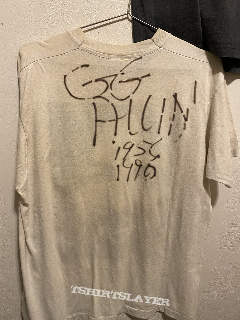 Charles Manson signed by GG Allin