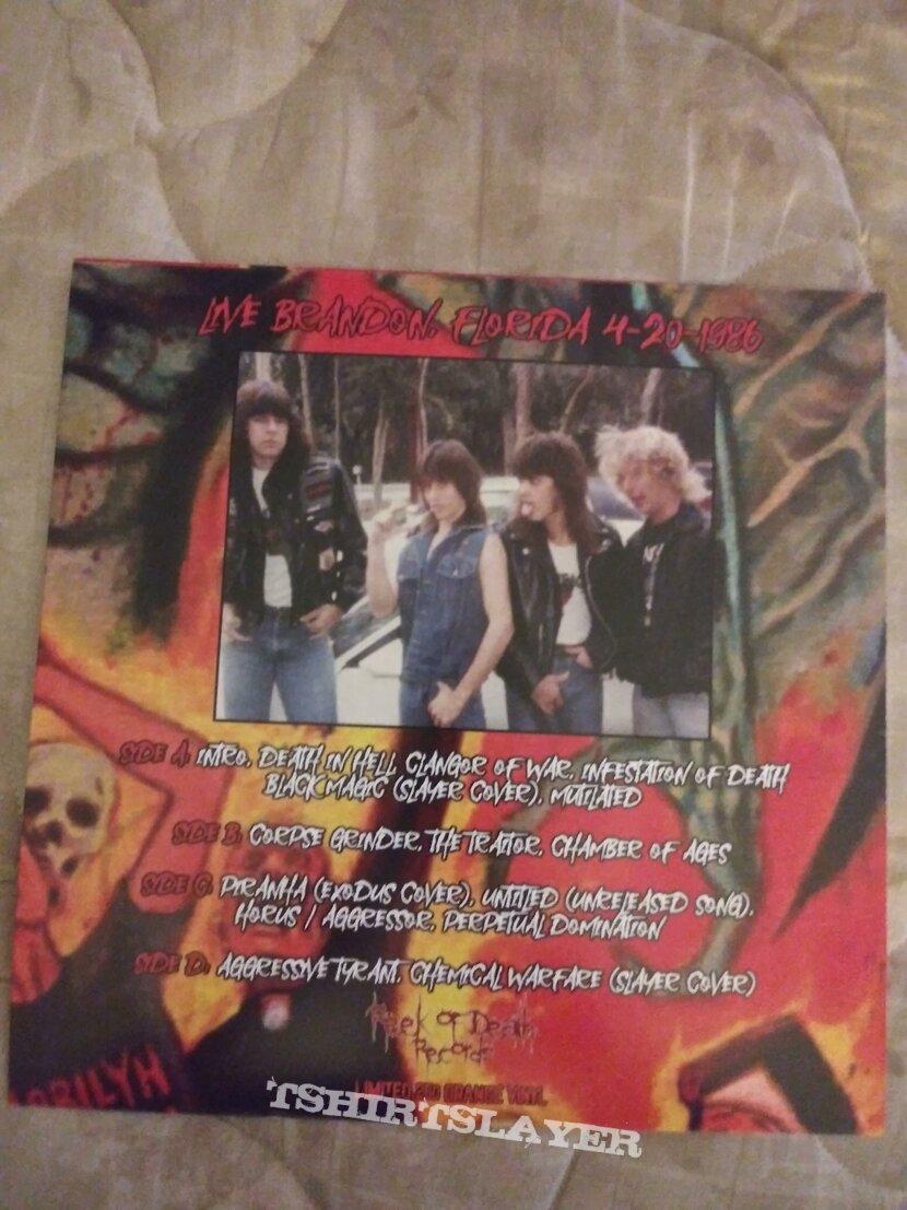 Massacre 2 lps translucent orange. vinyl 1986 live Florida show HHR 250 made