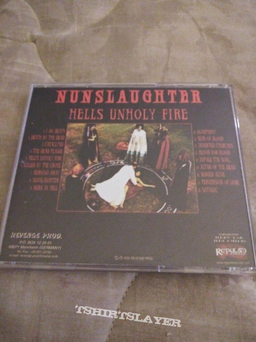 Nunslaughter hells unholy fire cd original Revenge 2000