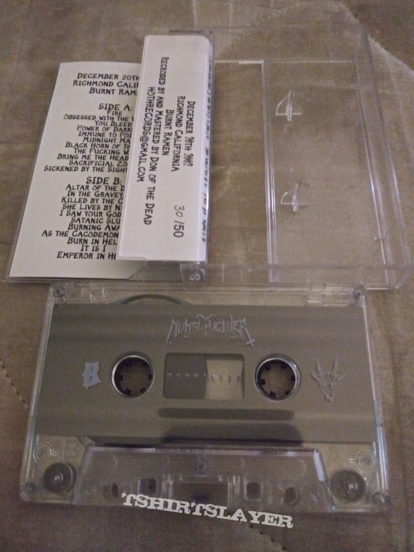 Nunslaughter burnt ramen cassette tape poster+ patch #30 of 50