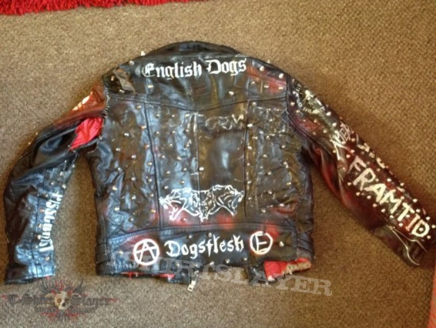 Old Punk Crust Leather Tshirtslayer Tshirt And