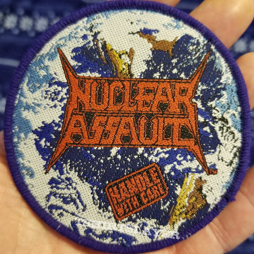 """Nuclear Assault """"Handle With Care"""" Original Patch."""