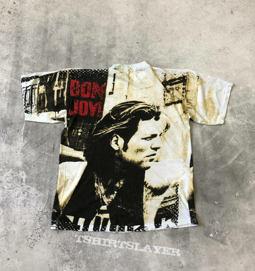 1990s Bon Jovi All Overprint T Shirt