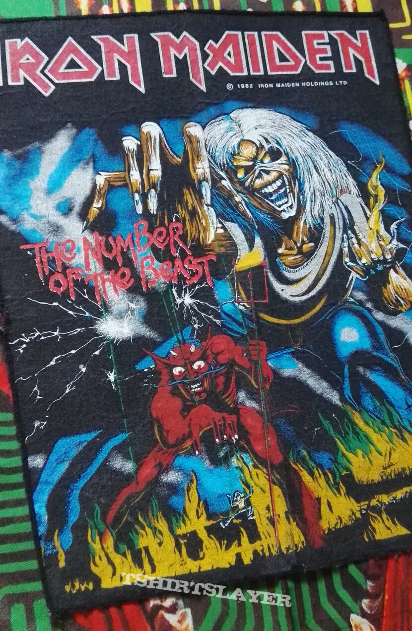 """Iron Maiden """"The Number Of The Beast"""" Backpatch 1982"""