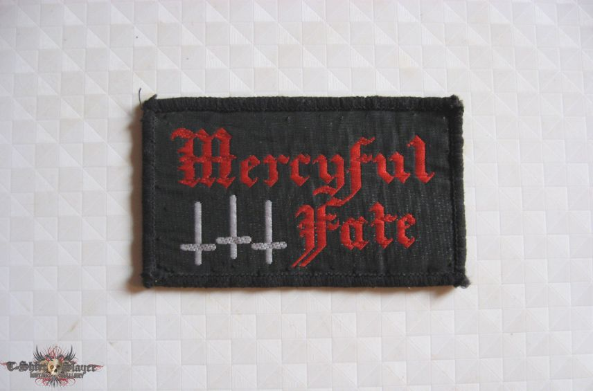 MERCYFUL FATE Logo and Crosses original embroidered patch