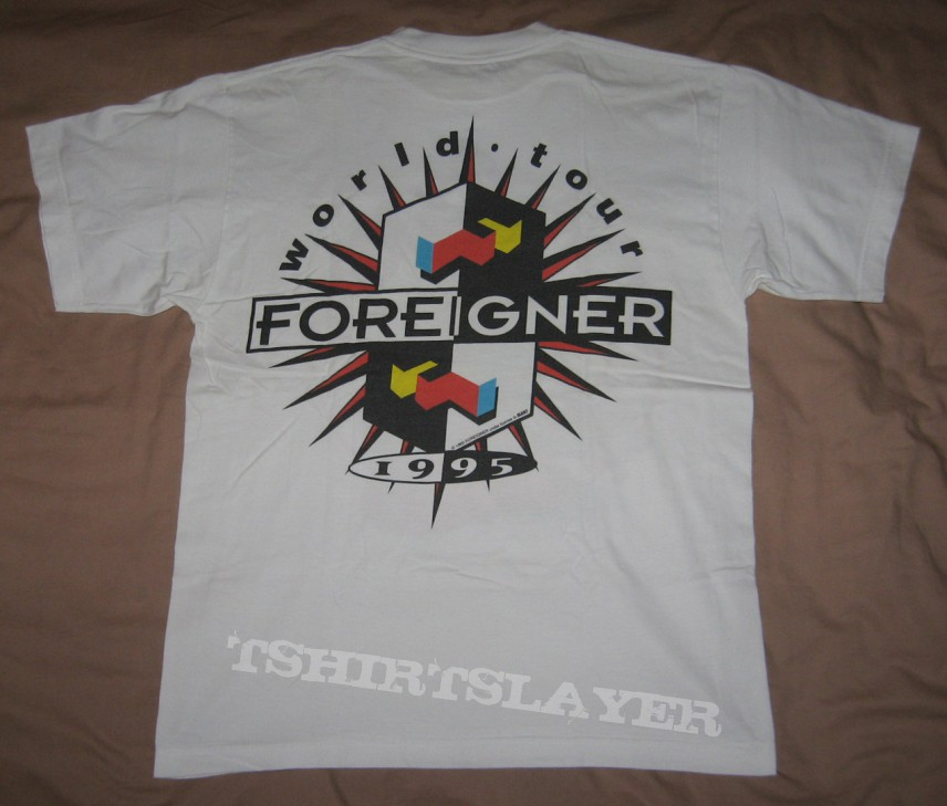 "FOREIGNER ""World Tour 1995"" original t-shirt *SOLD*"