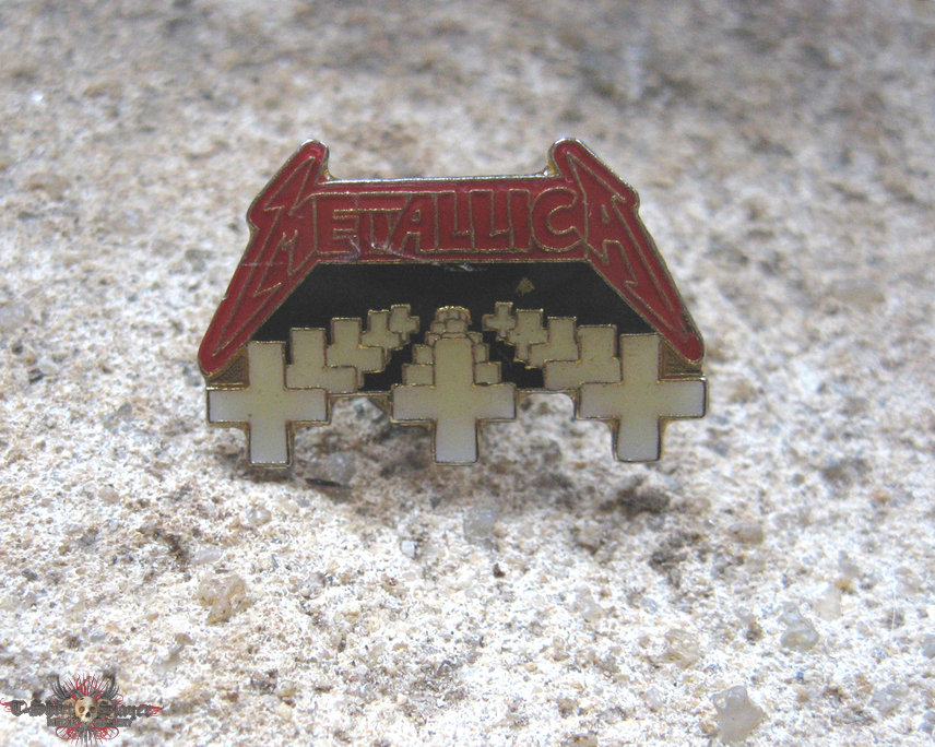 METALLICA Master Of Puppets vintage enameled pin