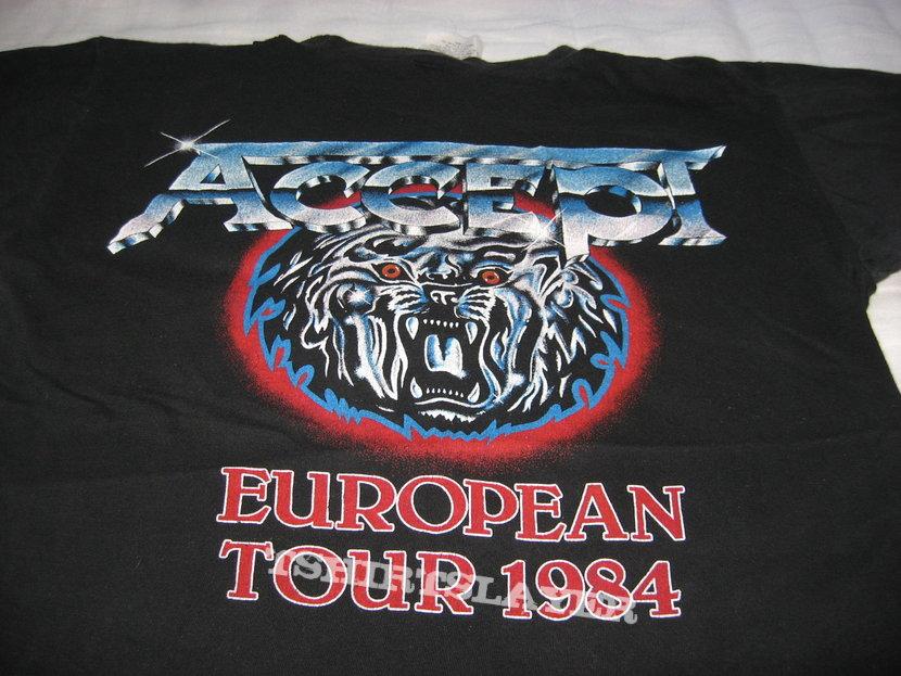 ACCEPT Balls To The Wall European Tour 1984 t-shirt
