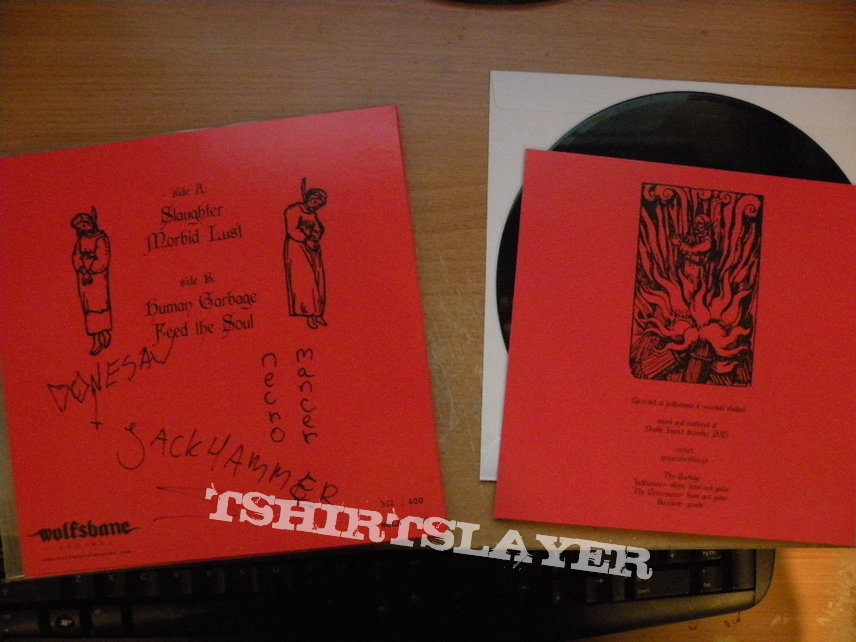 signed Incinerator- Human garbage 7""