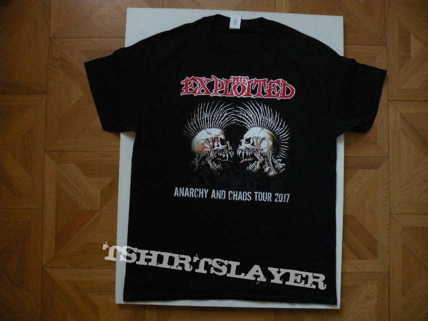 The Exploited- Anarchy and chaos 2017 tourshirt