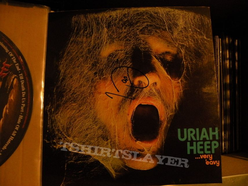 Other Collectable - signed Uriah Heep- Very 'eavy, very 'umble lp Island Records 1970