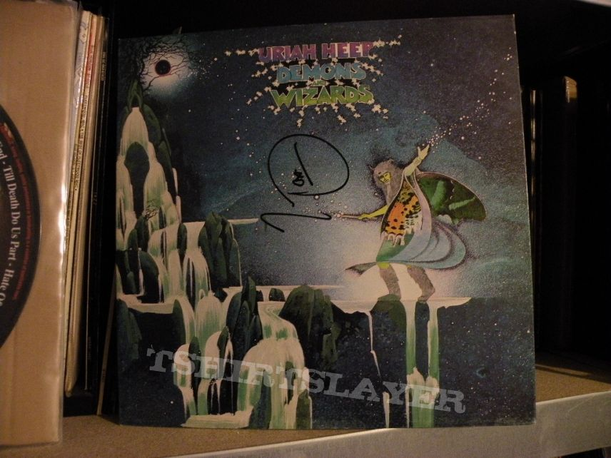 signed Uriah Heep- Demons and wizards lp Bronze Records 1972