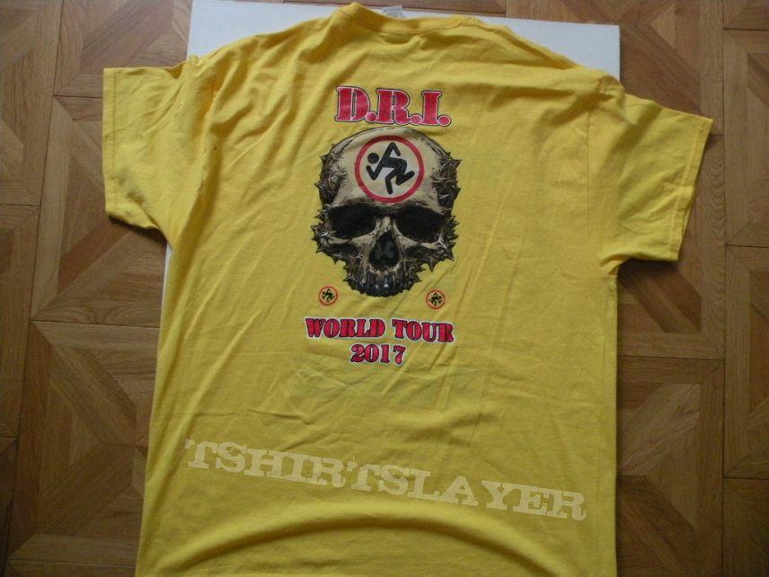 D.R.I.- 2017 world tourshirt