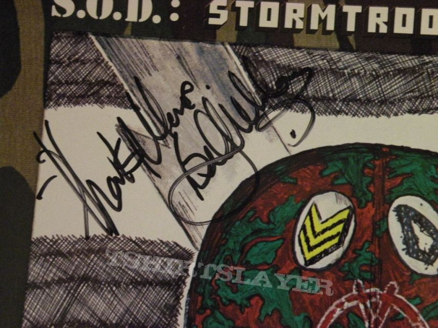 signed S.O.D.- Speak English or die lp