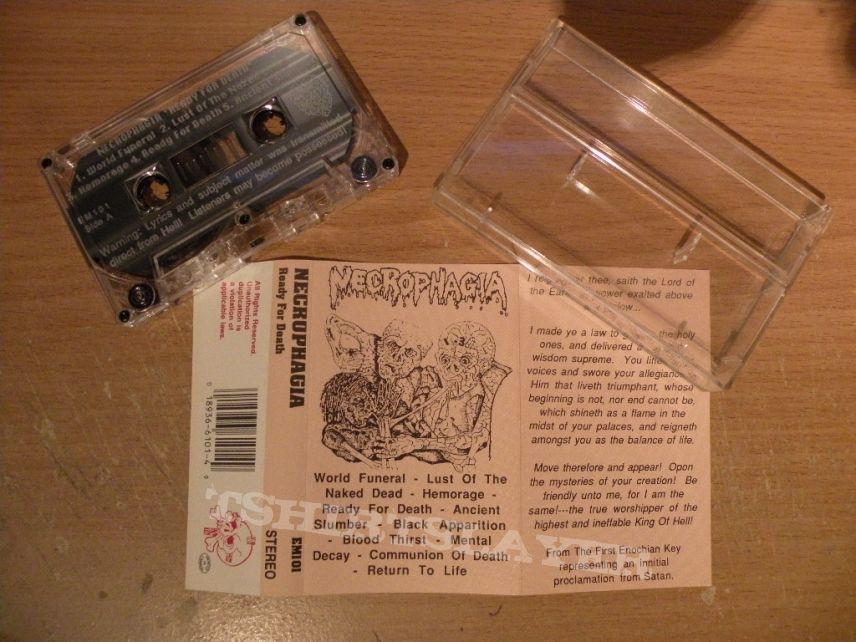 original Necrophagia- Ready for death cassette album