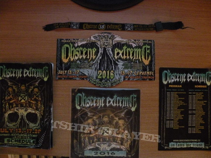 2016 Obscene Extreme Festival shirt plus assorted items