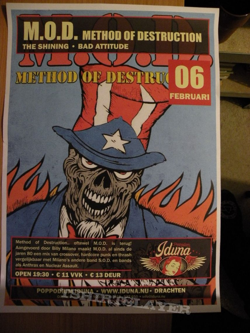 M.O.D. Moshing Europe 2014 tourposter