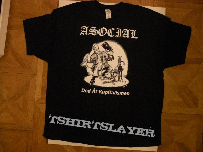 Asocial-  Död åt kapitalismen shirt