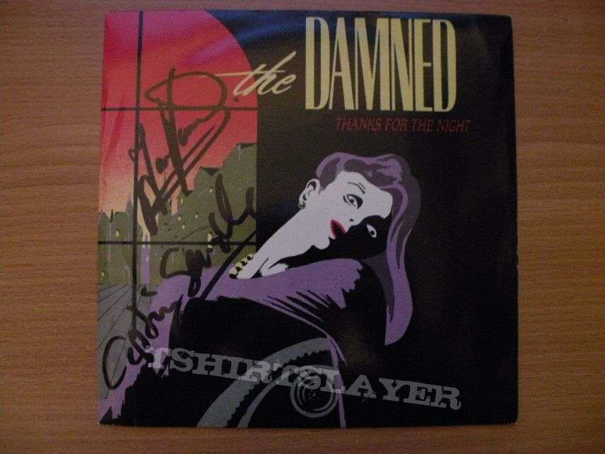 """signed The Damned- Thanks for the night 7"""""""