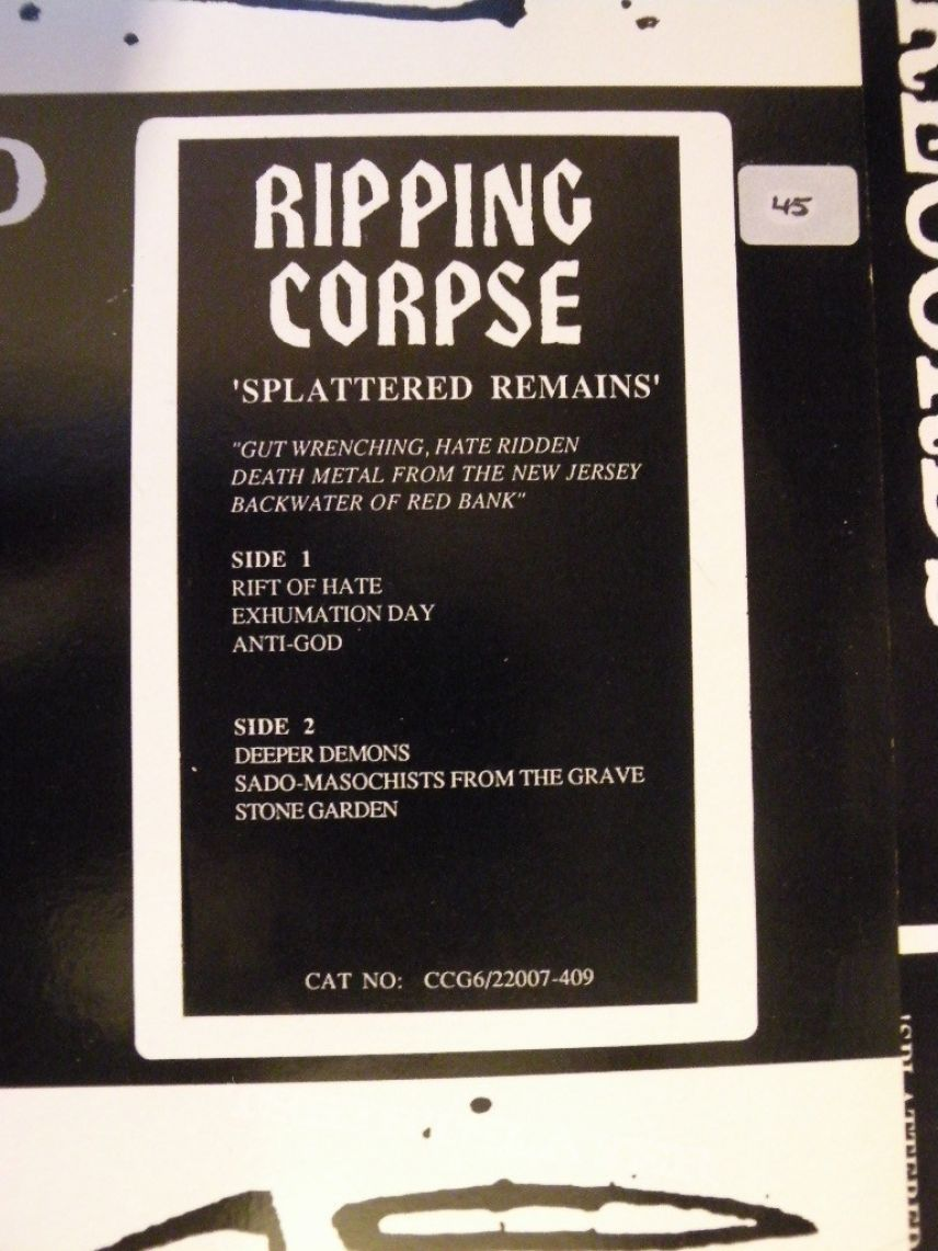Ripping Corpse- Splattered remains demo EP