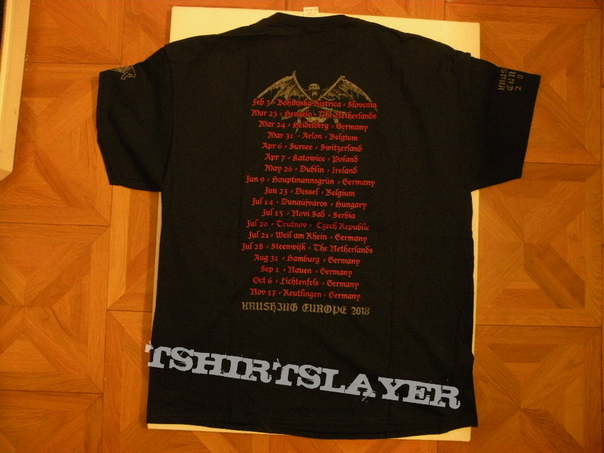 Asphyx- Krushing Europe 2018 tourshirt