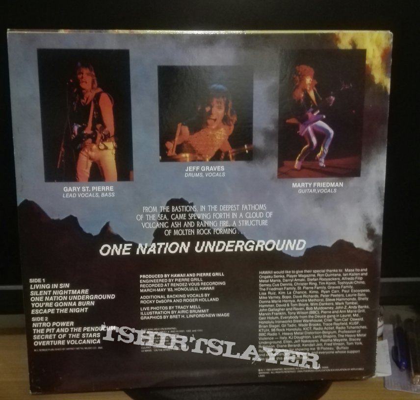 Hawaii-  One nation underground lp