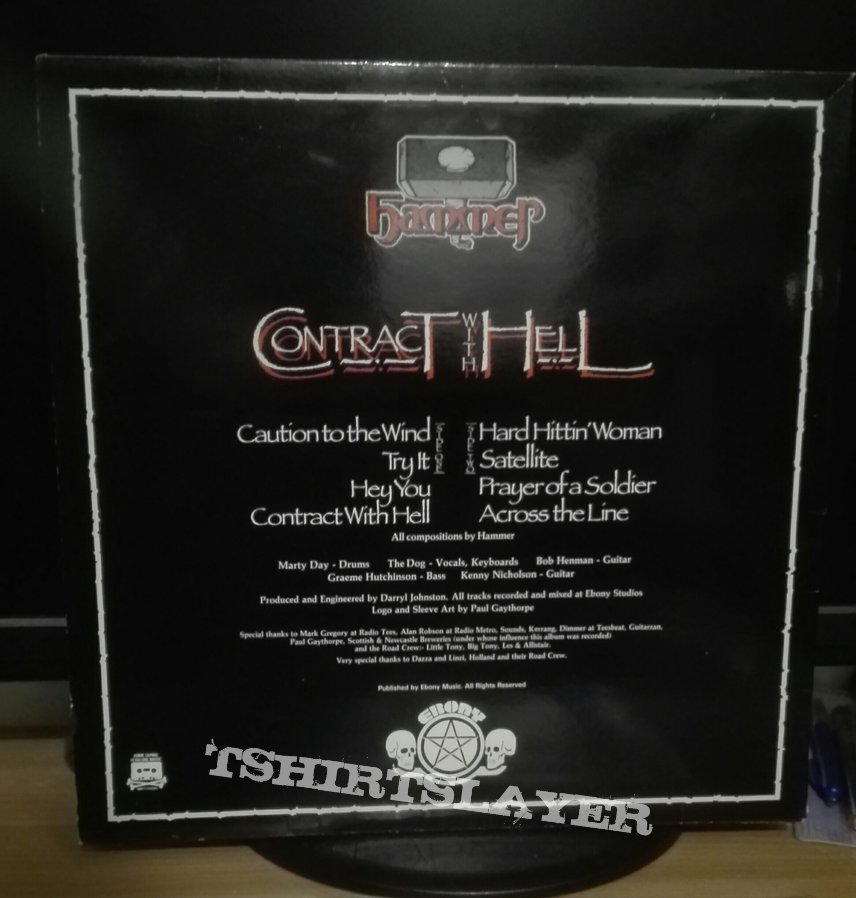 Hammer- Contract with Hell lp