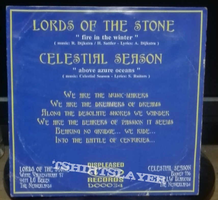 "Celestial Season/ Lords Of The Stone split 7"""