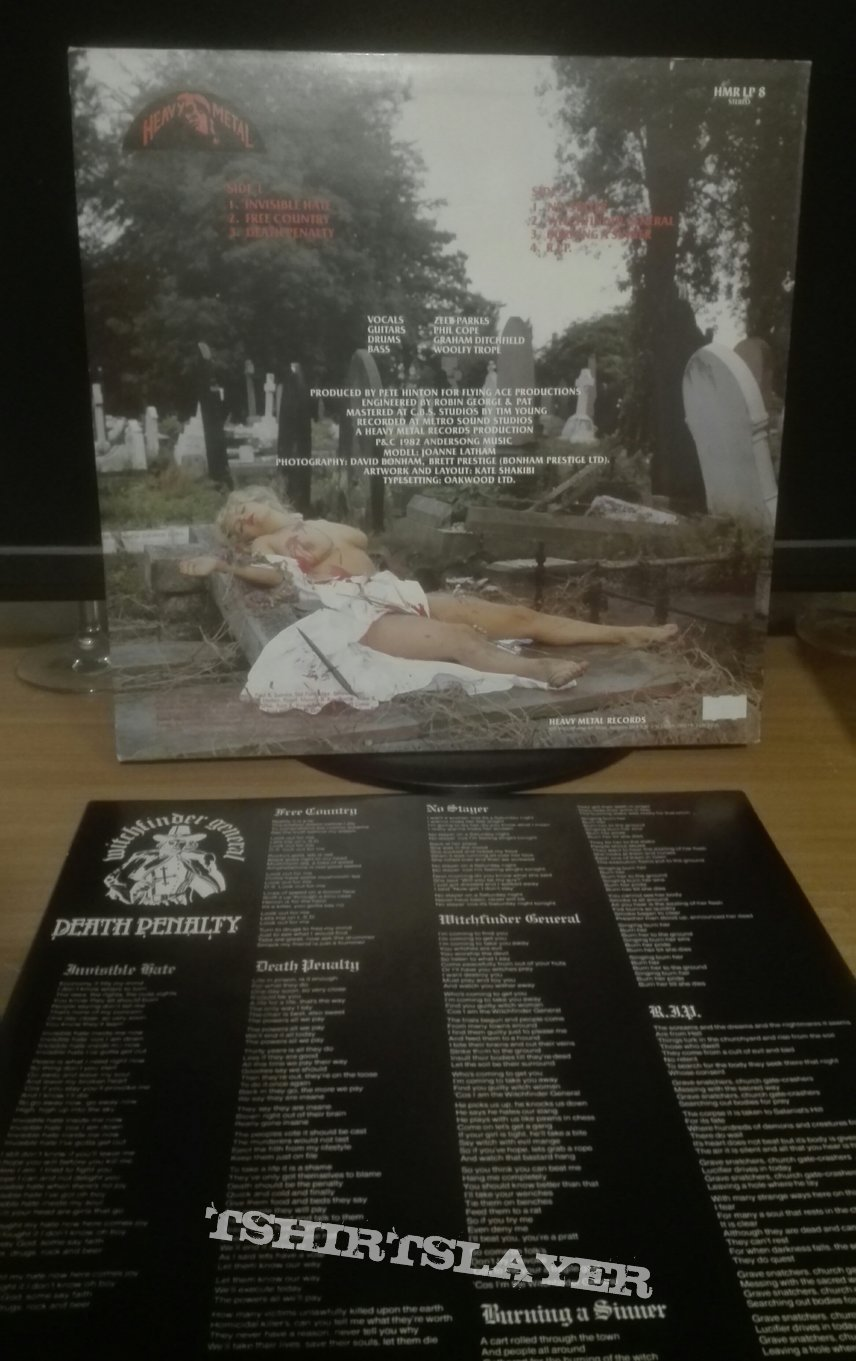 Witchfinder General- Death penalty lp