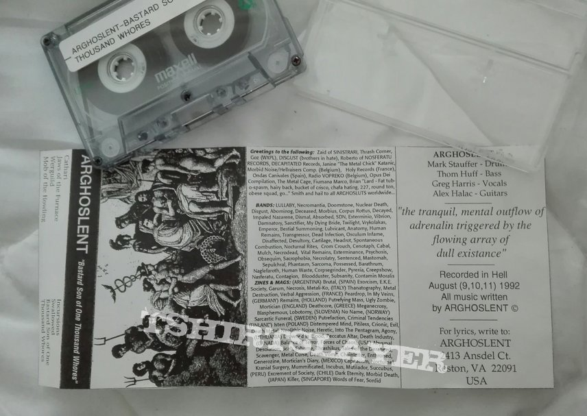 original Arghoslent- Bastard son of one thousand whores demo