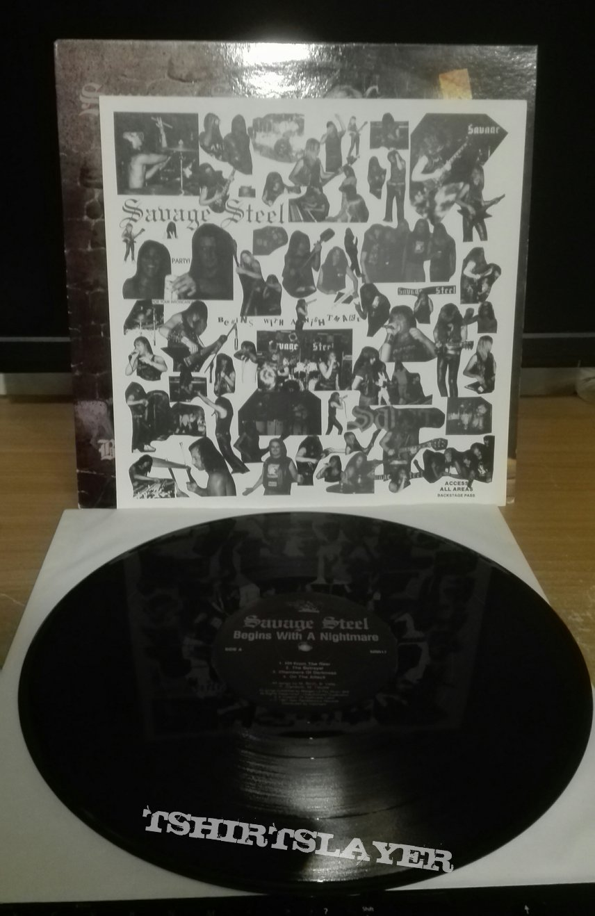 Savage Steel- Begins with a nightmare lp