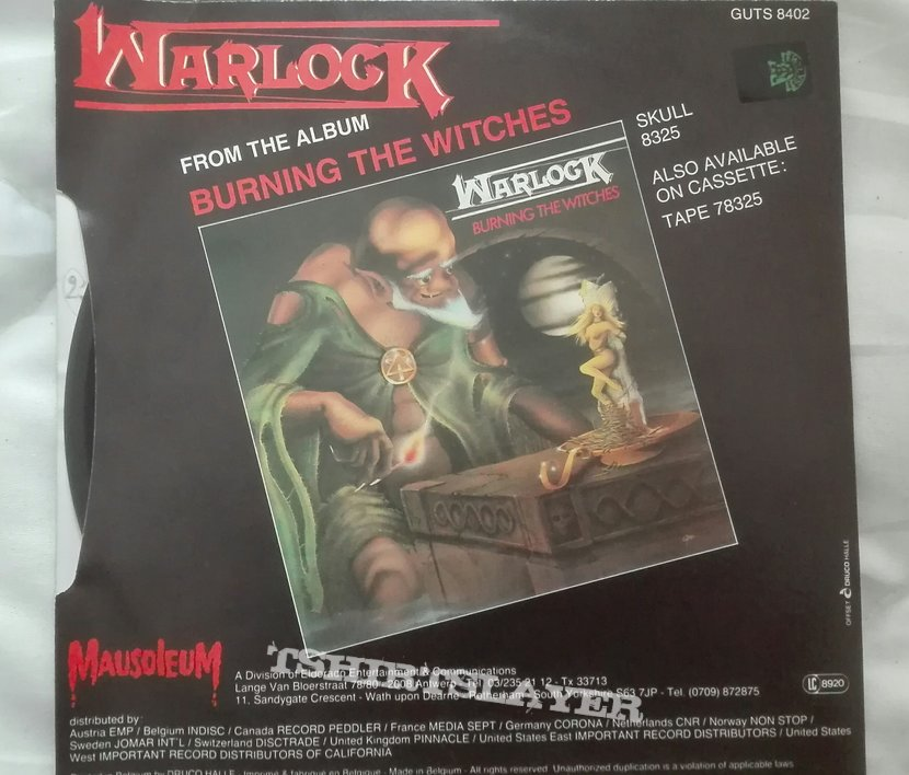 """Warlock- Without you/ Burning the witches 7"""""""